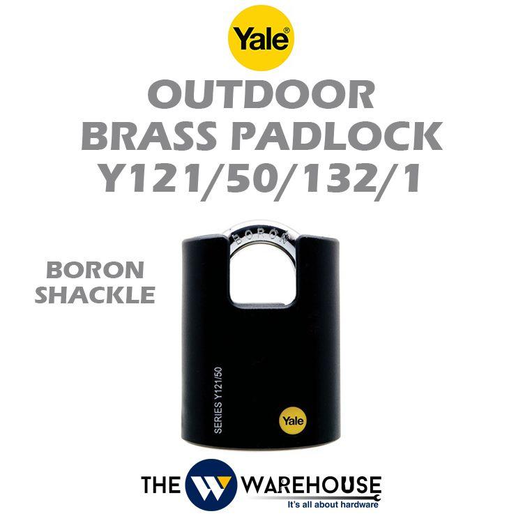 Yale Outdoor Brass Padlock Y121/50/132/1