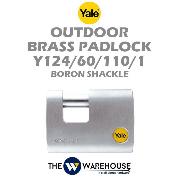 Yale Outdoor Brass Padlock Y124/60/110/1