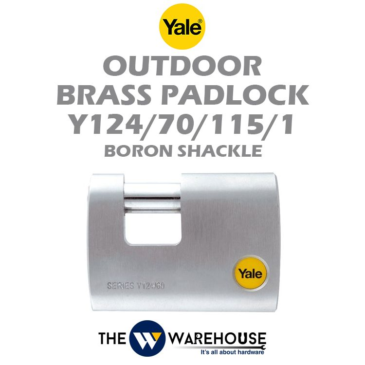 Yale Outdoor Brass Padlock Y124/70/115/1