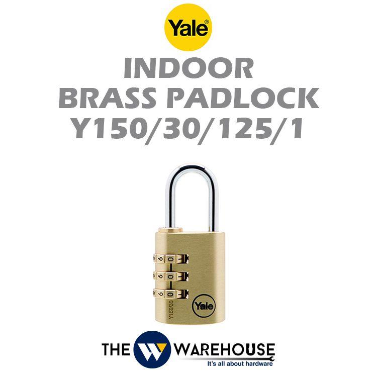 Yale Indoor Numbering Brass Padlock Y150/30/125/1
