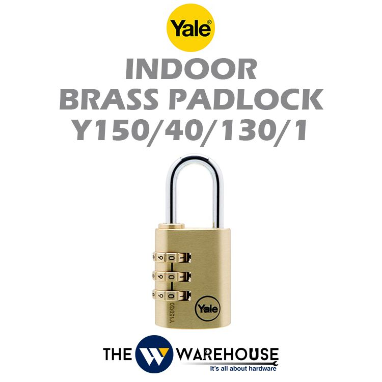 Yale Indoor Numbering Brass Padlock Y150/40/130/1