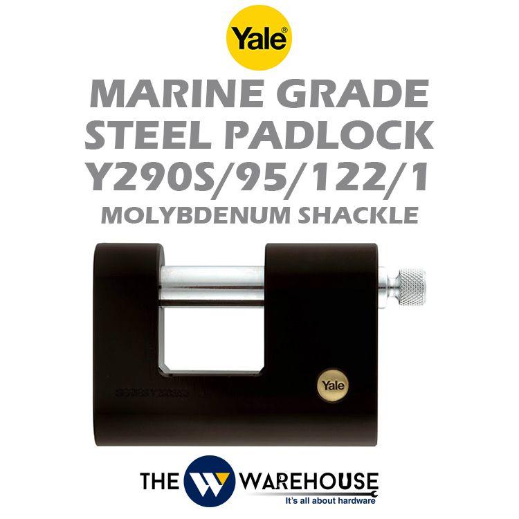 Yale Marine Grade Steel Padlock Y290S/95/122/1