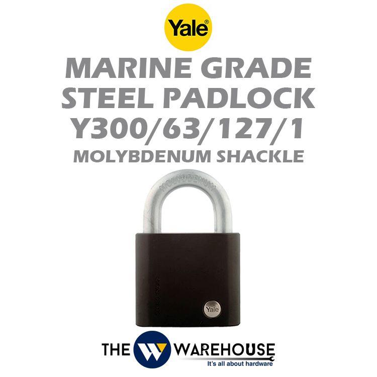 Yale Marine Grade Steel Padlock Y300/63/127/1
