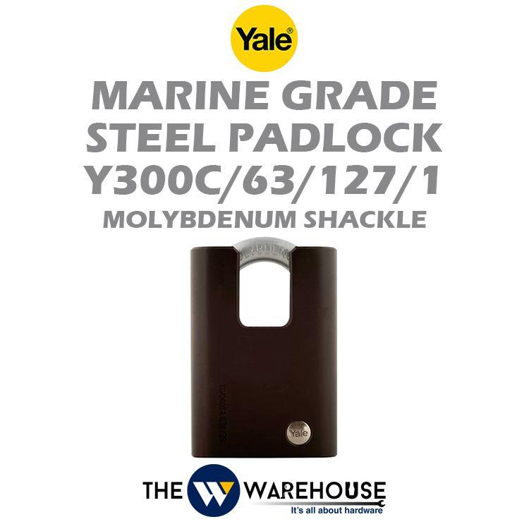Yale Marine Grade Steel Padlock Y300C/63/127/1
