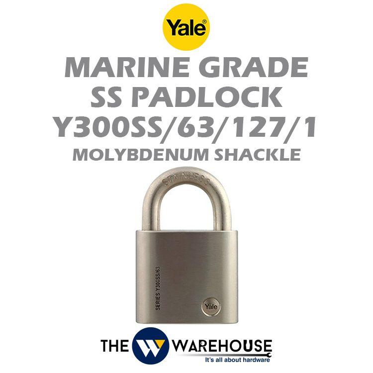 Yale Marine Grade Stainless Steel Padlock Y300SS/63/127/1